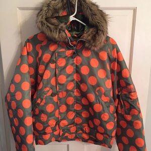 Adidas Originals Polka Dot  Puff Coat Jacket